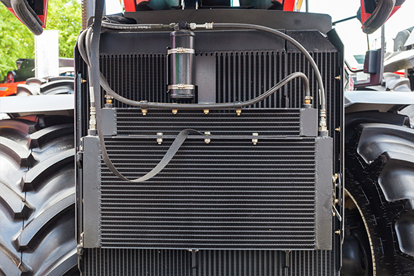 An image of a tractor with a new radiator.
